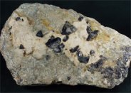 Benitoite Cyclosilicate - Veevaert Collecton at Rice Northwest Rock and Mineral Museum2