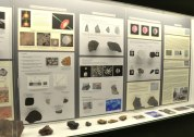 Meteorites on exhibit at the Rice Northwest Museum of Rocks and Minerals.