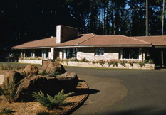 Newly completed Rice family home - later to become the Rice Northwest Rock and Mineral Museum - circa 1950s.