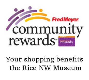 Fred Meyer Charity Program logo - Benefits the Rice Northwest Museum of Rocks and Minerals.