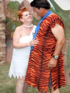 Fred and Wilma Flintstone.